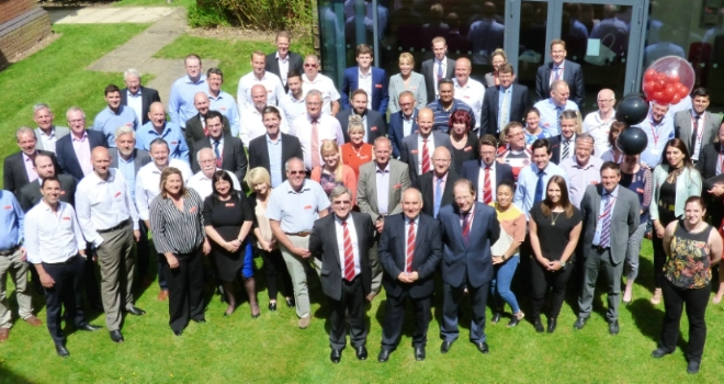 Picture of delegates at property auctioneer Auction House's 10th anniversary conference