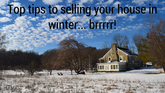 Selling house in winter with ice