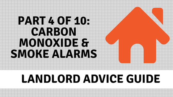 Lanlord advice on fire safety, smoke alarms and carbon monoxide alarms