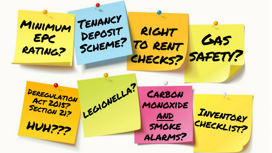 Landlord questions, EPCs? Tenancy deposit scheme? Gas safety? Right to Rent checks?
